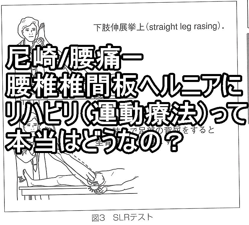 尼崎/腰痛ー腰椎椎間板ヘルニアのリハビリ(運動療法)って本当はどうなの?